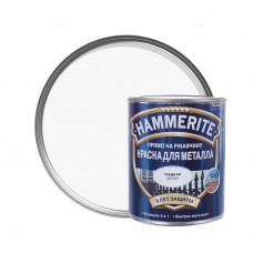 Краска по металлу Хамерайт (Hammerite) белая, полумат, 2,2л