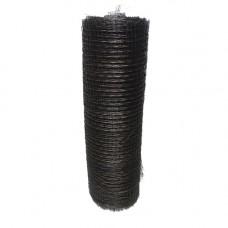Сетка штукатурная 0,8мм, яч. 14х14 мм (1х80)м, плетёнка чёрная