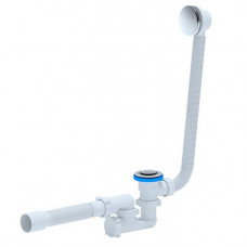 Сифон для ванны АниПласт ЕС255S автомат 1 1/2″х40 с гибким соединением с переливом