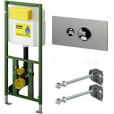 Инсталляция для подвесного унитаза Viega Eco Plus 660321 816193 с кнопкой смыва Style 10 хром 596323 8315.1